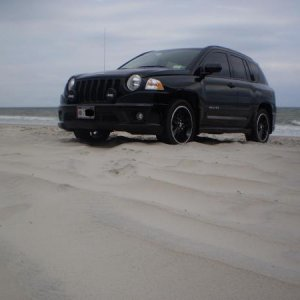 MY VEHICLE ON CAROLINA BEACH, NC.  THE CAR WAS FIRST TIME IN 4X4