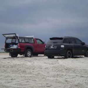 MY FATHERS TACOMA NEXT TO THE COMPASS